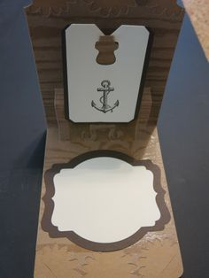 Stampin' Up!  Pop 'n Cut card nautical