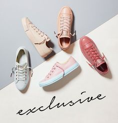 Pastel Rose Tan Rose Gold Exclusive Converse All Star Low Leather from OFFICE.co.uk.