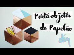 DIY: Organizador Geométrico de Papelão! por Isabelle Verona - YouTube