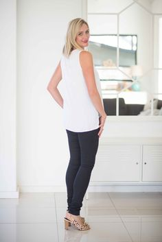 The MOST comfortable skinny jean design around, and made especially for tall women!