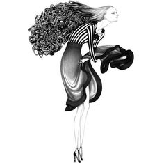 Fashion Illustrations by Laura Laine | Cuded
