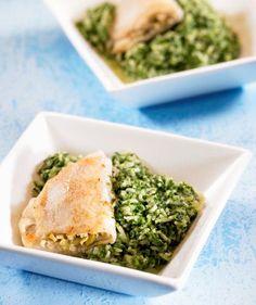 Gefüllte Schollenfilets mit Spinat-Reis Rezept | Dr.Oetker