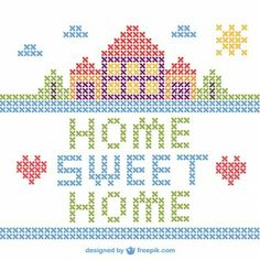 cross stitch first home - Google Search