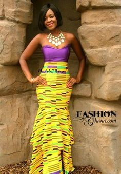 Ghana Fashion Magazine | Kente | African Fashion | Purple + Yellow