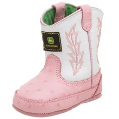 John Deere Kids 171 Boot (Infant/Toddler),White/Pink,4 « Shoe Adds for your Closet