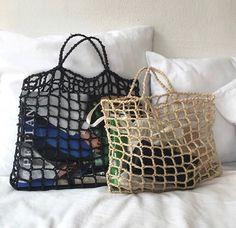Crochet Girls, Love Crochet, Diy Crochet, Crochet Stitches, Crochet Patterns, Crochet Market Bag, Crochet Bookmarks, Art Bag, Macrame Bag