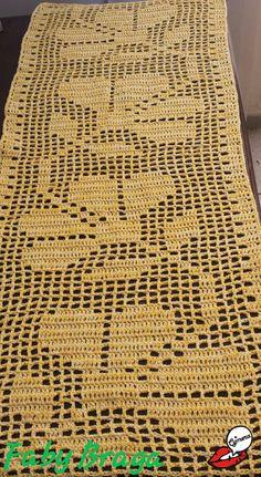 Pink Lace Flower Scarf - Handmade Filet Crochet Scarf - Pink Lace Scarf - Shabby Chic Flowers - Dresser Scarf or Flower Table Runner Crochet Table Runner Pattern, Free Crochet Doily Patterns, Beading Patterns Free, Crochet Squares, Crochet Motif, Crochet Doilies, Crochet Books, Crochet Crafts, Crochet Carpet