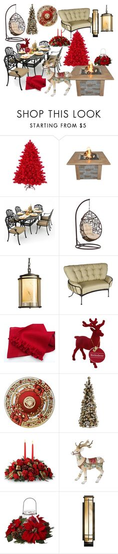 """""""Christmas cottage"""" by letoileto ❤ liked on Polyvore featuring interior, interiors, interior design, home, home decor, interior decorating, The Outdoor GreatRoom Company, Lakeview Outdoor Designs, Hubbardton Forge and O.W. Lee"""