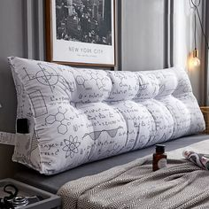 Bed Cushions, Diy Pillows, Tatami Bed, Long Pillow, Simple Bed, Diy Bed, Headboards For Beds, Home Textile, Diy Furniture