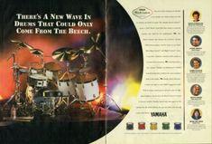 1998 2pg Print Ad of Yamaha Beech Custom Drum Kit w Sonny Emory, David Garibaldi | eBay David Garibaldi, Drum Kits, Print Ads, Vintage Advertisements, Yamaha, Drums, Advertising, Ebay, Print Advertising