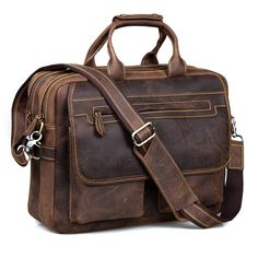 996e2a32fd Kattee Leather Briefcase Shoulder Business