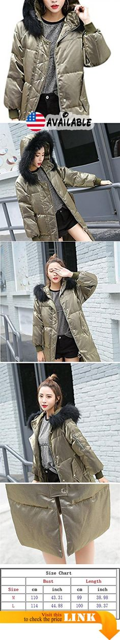 "B077BSRPSX : Youtobin Women's Casual Faux Fur Hood Solid Loose Long Puffer Coat L Green. M:Bust:43.31""/110cm.Length:38.98""/99cm. === L:Bust:44.88""/114cm.Length:39.37""/100cm. === XL:Bust:46.46""/118cm.Length:39.76""/101cm.. The coat is not American codeplease pay attention to the last image on the left inside of the size chart and choose the suit size.(All measurement in cm and please note 1""=2.54 cm). Product categories: coat Size Available: MLXL Material: polyester Decoration:"