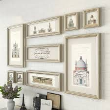 Antique Harry Potter Themed Room Wall Decor Victorian Photo Collage Set of Custom Painted Picture Frames