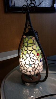 Tiffany, Seashells, Islands, Stained Glass, Wave, Ocean, Lighting, Beach, Home Decor