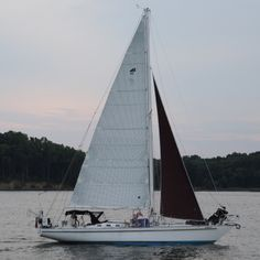 Staysails are the smaller jib on a cutter. They are mounted to the inner  forestay, which is the stay inboard of the headstay and attaches only  partway up the mast. When tacking a cutter, you have the jib and staysail  to sheet on each tack. This can become quite a chore when short tacking  thr