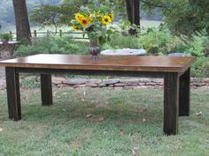 concrete table / reclaimed wood