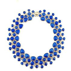 Gold Plated Bib Enamel Bubble Collar Necklace