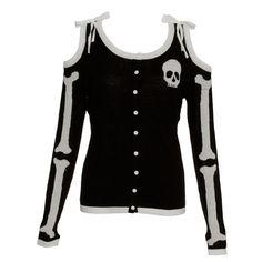 Too Fast skeleton sweater Size: SPrice: Starting bid $24.99 bidding ends on 05/18/2015