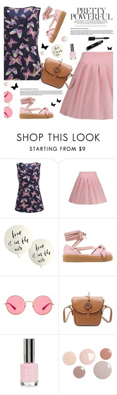 """""""Pretty"""" by tamara-p ❤ liked on Polyvore featuring Kate Spade, Puma, Ray-Ban, Topshop, casual, Pink and butterflies"""