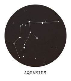 4577b346bc5 Aquarius Star Constellation Art Print Aquarius Star Constellation