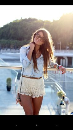 Cute summer outfit fashion mode, look fashion, teen fashion, womens fashion Style Outfits, Mode Outfits, Casual Outfits, Fashion Outfits, Casual Shorts, Style Clothes, Clothes Sale, Clothes Shops, Fashion Trends