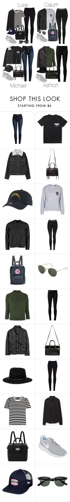 """""""5SOS Styles: NIKE Tanjun in Gray (Autumn/Winter)"""" by fivesecondsofinspiration ❤ liked on Polyvore featuring Dr. Martens, Forever 21, '47 Brand, Topshop, Fjällräven, rag & bone, H&M, Yves Saint Laurent, Brixton and Citizens of Humanity"""