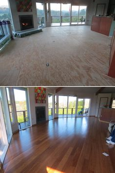 "Living Room Love! ""We chose this floor to allow easier cleaning and a smooth surface for ease of mobility and less trip hazard."""