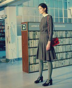Orla Kiely Autumn/Winter 2015   London Fashion Week   #allquietinthelibrary