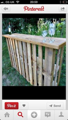 Pallet high table..i would love this for the kitchen