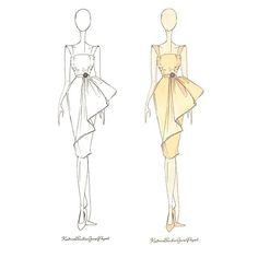 Dress Design Drawing, Dress Design Sketches, Fashion Design Sketchbook, Fashion Design Drawings, Dress Drawing, Fashion Sketches, Drawing Sketches, Fashion Illustration Template, Illustration Mode
