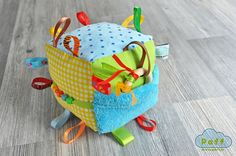 Baby Soft Fabric Developing Activity Cube Rattle Toy by PaffToys, $17.90