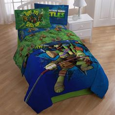 Teenage mutant ninja turtles twin/full comforter and full sheets: 5 Piece TMNT Bedding Bundle Includes: 1 Twin/ Full TMNT Comforter, 4 Piece Full Sheet Set Flat Sheet, 1 Fitted Sheet and 2 Pillowcases) 100 % Polyester. Teenage Mutant Ninja Turtles, Ninja Turtle Room, Kids Comforter Sets, Boy Bedding, Kids Sheets, Bed Sheet Sets, Bed Sets, Kid Beds, Luxury Bedding