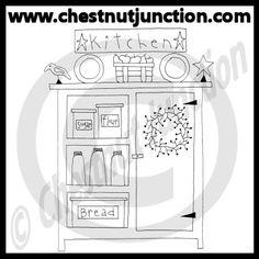 Kitchen Cupboard Line Art – Chestnut Junction