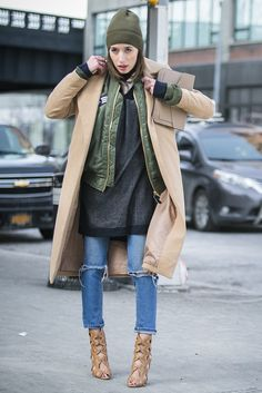 New York Fashion Week street style. [Photo by Ryan Kibler]