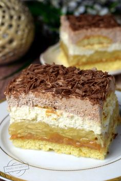 Sweet Desserts, Sweet Recipes, Delicious Desserts, Cake Recipes, Dessert Recipes, Good Food, Yummy Food, Best Food Ever, Polish Recipes