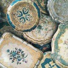 Vintage Florentine trays