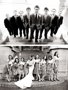 I like the one with the groom and groomsmen..not the one with the bride and bridesmaids