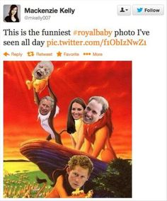 20 Funny Twitter Quotes About The Royal Baby