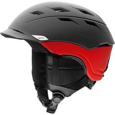 Smith Optics Unisex Adult Variance Snow Sports Helmet - Matte Black/Red Large (59-63CM) *** To view further for this item, visit the image link.