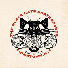 on behance designz - ilustraciones, arte urbano, marcas Cat Skateboard, Surf Drawing, Crea Design, Design Design, Old Comic Books, Skate Art, Retro Logos, Vintage Logos, Retro Illustration