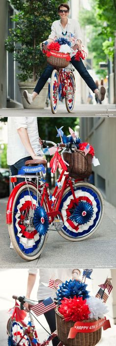 I remember our bikes looking ljke this for the parade!