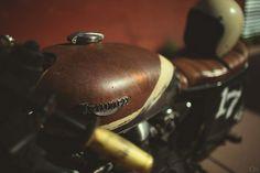 Triumph at Iron and Resin garage by Garrett Meyers, via Flickr