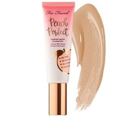 'light beige' Shop Too Faced's Peach Perfect Comfort Matte Foundation – Peaches and Cream Collection at Sephora. A comfort matte foundation infused with peach and sweet fig. Medium Coverage Foundation, Matte Foundation, Perfect Foundation, Too Faced Foundation, Best Oil Free Foundation, Natural Foundation, Flawless Foundation, Fig Fruit, Peach Fruit