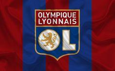 Download wallpapers Olympique Lyon, football club, emblem, France, France Ligue 1, Lyon