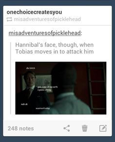Tobias was a cuck. And bringing a piano string to the fight? Srsly... Kid...