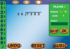 Interactive Long Division Games - Step by Step Activities & Examples Math For 4th Graders, Fifth Grade Math, Fourth Grade, Third Grade, Teaching Long Division, Division Games, Long Division Game, Long Division Activities, Math Teacher