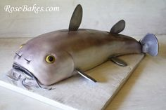 How to Make a Catfish Cake {Picture Tutorial} - You know, in case you ever NEED a cake in the shape of a catfish...