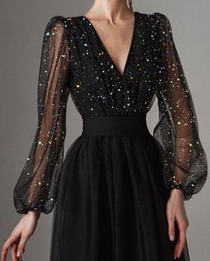 Prom Party Dresses, Ball Dresses, Ball Gowns, Evening Dresses, Hijab Dress Party, Dresses With Sleeves, Pretty Dresses, Beautiful Dresses, Glamouröse Outfits