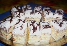 Jóska szelet Sweet Recipes, Cake Recipes, Hungarian Recipes, Hungarian Food, Sweet And Salty, Cake Cookies, Sandwiches, Food And Drink, Cooking Recipes