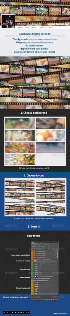 Facebook Filmstrip Cover Kit (.PSD). Buy it at Graphicriver for just $3.